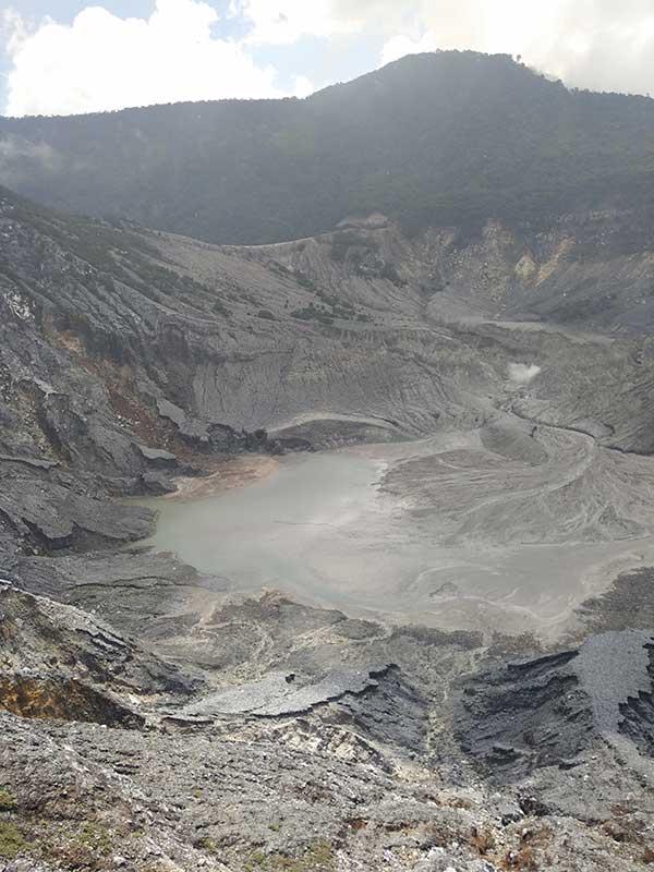 Tangkuban Perahu Volcano Crater