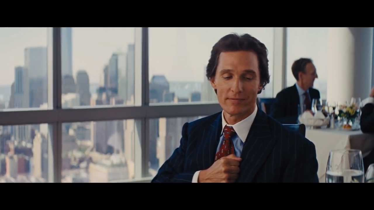 Wolf Of Wallstreet Matthew McConaughey Money Chant Scene
